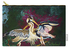 021916 Blue Heron's Dance Carry-all Pouch by Garland Oldham