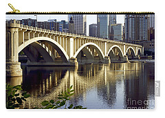 0333 3rd Avenue Bridge Minneapolis Carry-all Pouch by Steve Sturgill