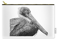 047 - Sinbad The Pelican Carry-all Pouch by Abbey Noelle