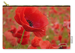 Red Poppies 3 Carry-all Pouch by Jouko Lehto