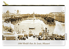1904 World's Fair, Grand Basin View From Festival Hall Carry-all Pouch