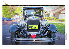 Carry-all Pouch featuring the photograph 1929 Ford Model A Tudor Police Sedan  by Rich Franco