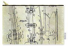 1935 Helicopter Patent  Carry-all Pouch by Jon Neidert
