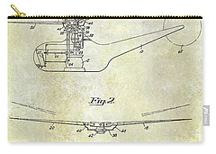 1947 Helicopter Patent Carry-all Pouch