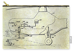 1953 Helicopter Patent Carry-all Pouch by Jon Neidert