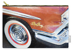 Carry-all Pouch featuring the photograph 1958 Pontiac Star Chief  by Rich Franco