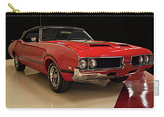 Carry-all Pouch featuring the photograph 1969 Oldsmobile 442 W 30 by Chris Flees
