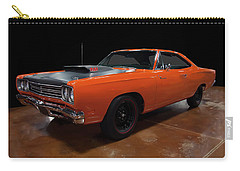 Carry-all Pouch featuring the photograph 1969 Plymouth Road Runner A12 by Chris Flees