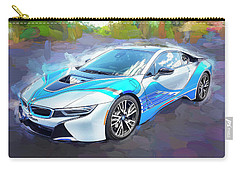 Carry-all Pouch featuring the photograph 2015 Bmw I8 Hybrid Sports Car by Rich Franco