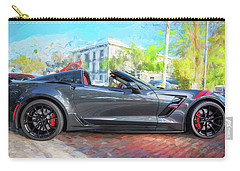 Carry-all Pouch featuring the photograph 2017 Chevrolet Corvette Gran Sport  by Rich Franco