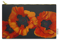 3 Poppies Carry-all Pouch