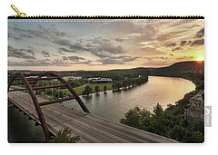 Carry-all Pouch featuring the photograph 360 Bridge Sunset by Todd Aaron