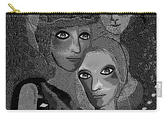 Carry-all Pouch featuring the digital art 451 - To Lean On by Irmgard Schoendorf Welch