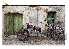 Carry-all Pouch featuring the painting A Carriage On Crisologo Street 2 by Joey Agbayani
