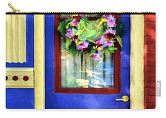 Carry-all Pouch featuring the photograph A Door Of Many Colors # 2 by Mel Steinhauer