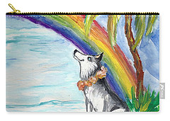 A Husky In Paradise Carry-all Pouch