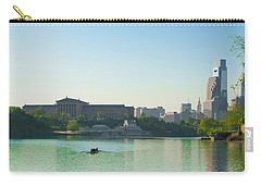 Carry-all Pouch featuring the photograph A Spring Morning In Philadelphia by Bill Cannon