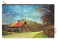 Carry-all Pouch featuring the photograph Abandoned Red Barn by Anna Louise