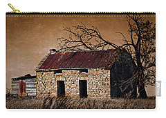 Carry-all Pouch featuring the photograph Abandoned Stone House by Anna Louise