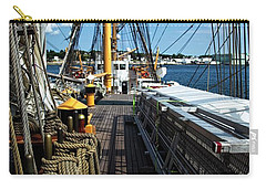 Carry-all Pouch featuring the photograph Aboard The Eagle by Karol Livote