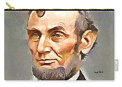 Abraham Lincoln Carry-all Pouch by Wayne Pascall