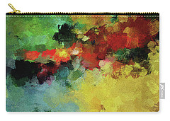 Carry-all Pouch featuring the painting Abstract And Minimalist  Landscape Painting by Ayse Deniz