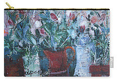 Carry-all Pouch featuring the painting Abstract Flowers by Betty Pieper
