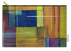 Carry-all Pouch featuring the painting Abstract Line Series by Patricia Cleasby