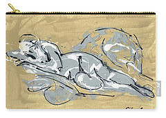 Abstract Nude Carry-all Pouch
