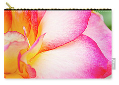 Abstract Rose Petals Carry-all Pouch by Teri Virbickis
