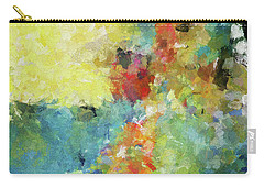 Carry-all Pouch featuring the painting Abstract Seascape Painting by Ayse Deniz