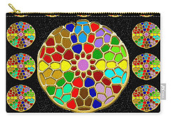 Acrylic Painted Round Colorful Jewel Patterns By Navinjoshi At Fineartamerica.com   Also Available O Carry-all Pouch
