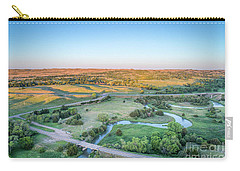 aerial view of Dismal River in Nebraska Carry-all Pouch