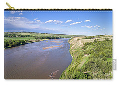 aerial view of Niobrara River in Nebraska Sand Hills Carry-all Pouch