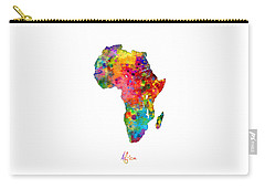 Africa Watercolor Map Carry-all Pouch