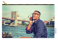 African American Man Traveling In New York Carry-all Pouch