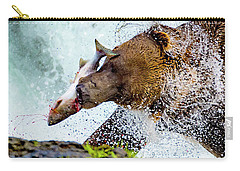 Carry-all Pouch featuring the photograph Alaska Brown Bear by Norman Hall