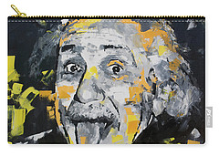 Carry-all Pouch featuring the painting Albert Einstein by Richard Day
