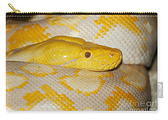 Albino Reticulated Python Carry-all Pouch