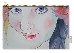 Carry-all Pouch featuring the painting Alisha by Mary Haley-Rocks
