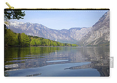 Carry-all Pouch featuring the photograph Alpine Clarity by Ian Middleton