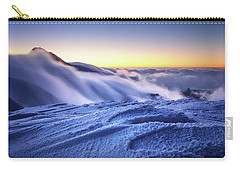 Amazing Foggy Sunset At Mountain Peak In Mala Fatra, Slovakia Carry-all Pouch