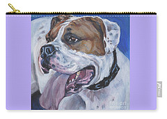 American Bulldog Carry-all Pouch by Lee Ann Shepard