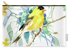 American Goldfinch Carry-all Pouch by Suren Nersisyan