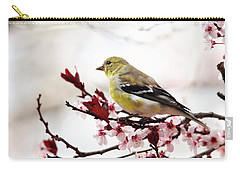 American Goldfinch In Spring Carry-all Pouch by Trina Ansel