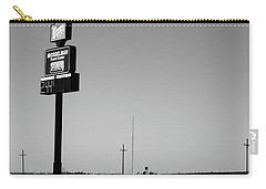 Carry-all Pouch featuring the photograph American Interstate - Kansas I-70 Bw 4 by Frank Romeo
