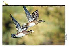 Carry-all Pouch featuring the photograph American Widgeon by Tam Ryan