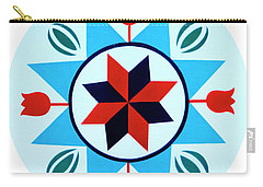 Carry-all Pouch featuring the photograph Amish Hex Design by Paul W Faust - Impressions of Light