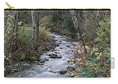 Carry-all Pouch featuring the photograph An Autumn Stream by Jeff Swan