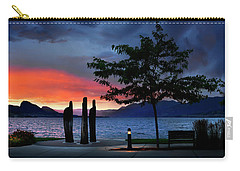 Carry-all Pouch featuring the photograph A Sunset Story by John Poon